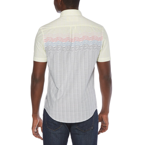 Original Penguin Engineered Stripe Short Sleeve Woven Shirt - ANTHEM