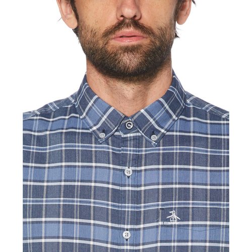 Original Penguin Plaid Short Sleeve Woven Shirt - ANTHEM