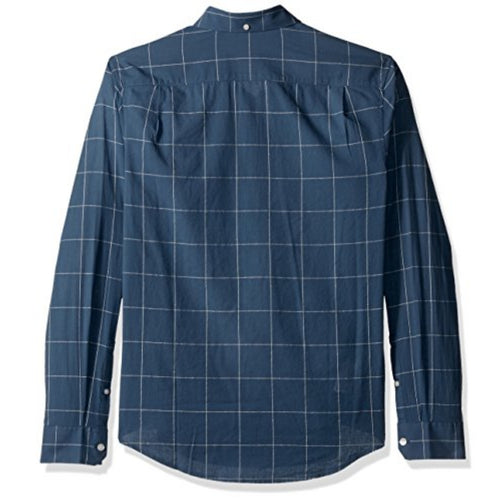 Original Penguin Lawn Wpane Slub Long Sleeve Woven Shirt - ANTHEM