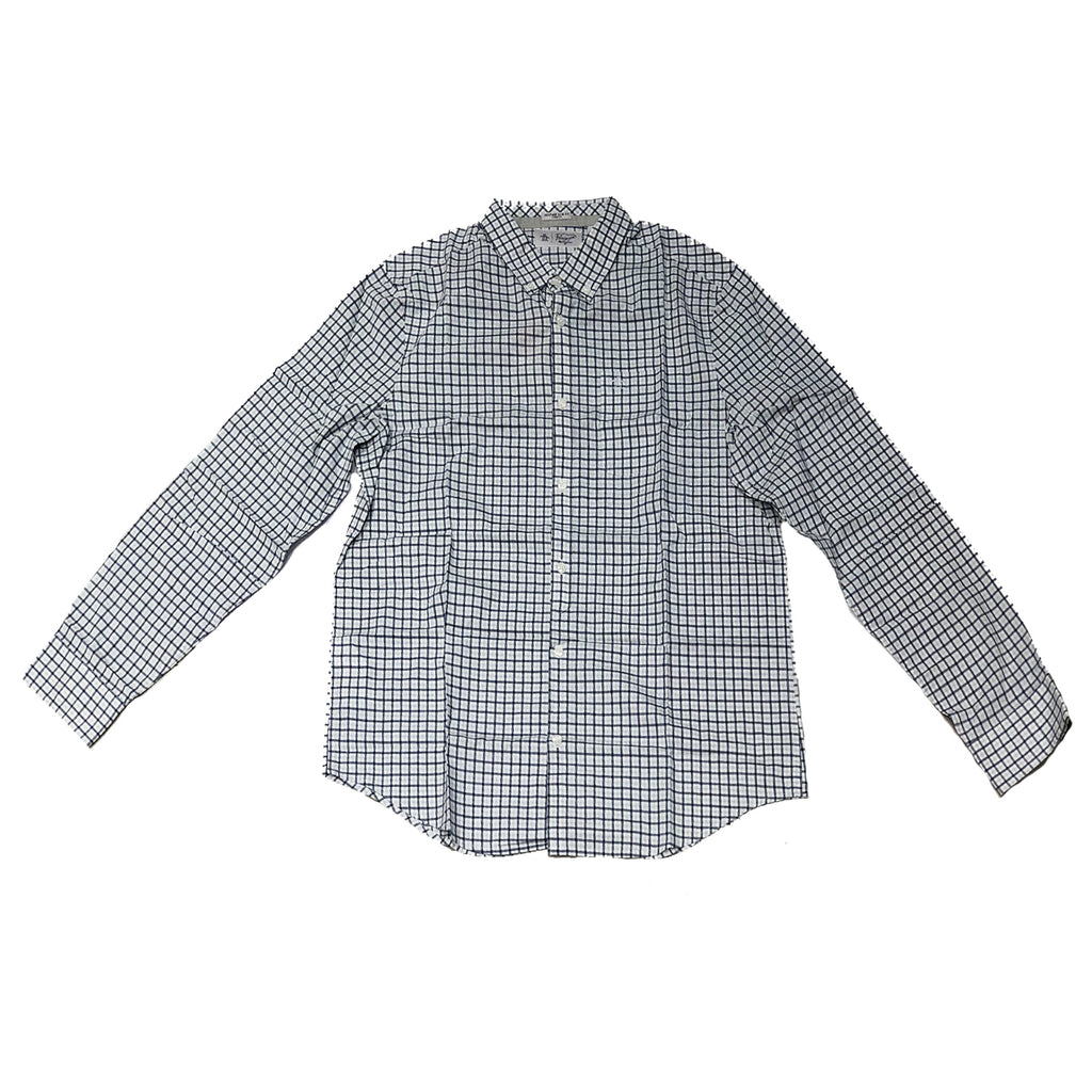 Original Penguin Core Gingham Wstretch Long Sleeve Woven Shirt - Bright White - ANTHEM