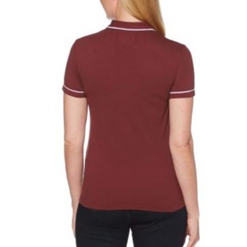 Original Penguin Womens Veronica Pointed Collar Polo Shirt - Tawny Port