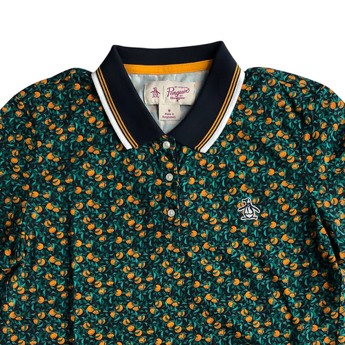 Original Penguin Womens Ditsy Orange Print Polo - ANTHEM