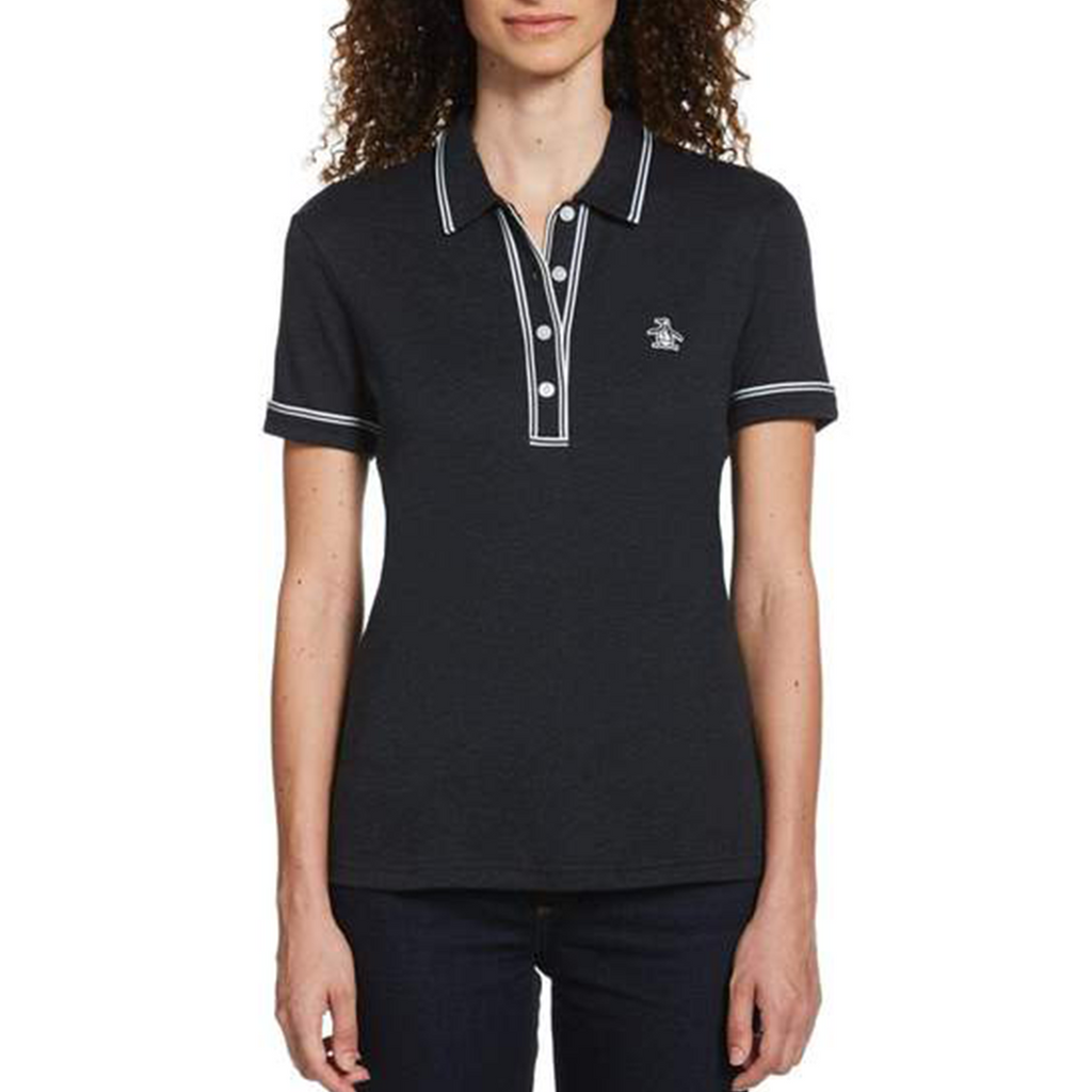 Original Penguin Womens Earl 3D Polo Shirt - Dark Sapphire