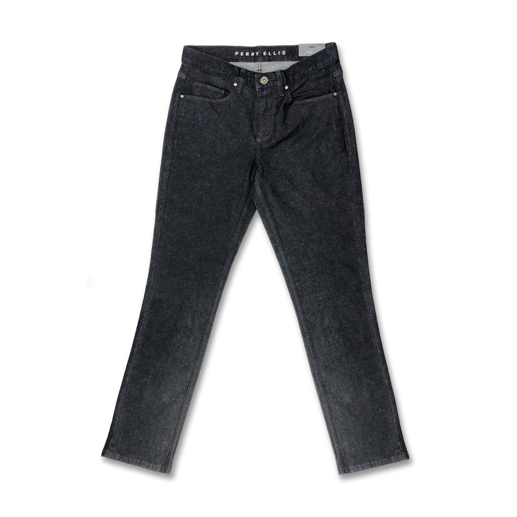 Perry Ellis Slim Straight Rinse Denim Pants - Dark Indigo