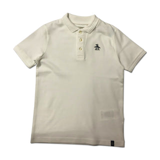 Original Penguin Boys Raised Tipped Polo Shirt - Bright White - ANTHEM