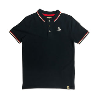 Original Penguin Boys Contrast Tipping Polo Shirt - Navy Blazer - ANTHEM