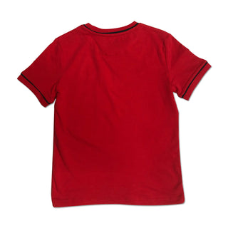 Original Penguin Boys Contrast Piping T-Shirt - Lipstick Red - ANTHEM