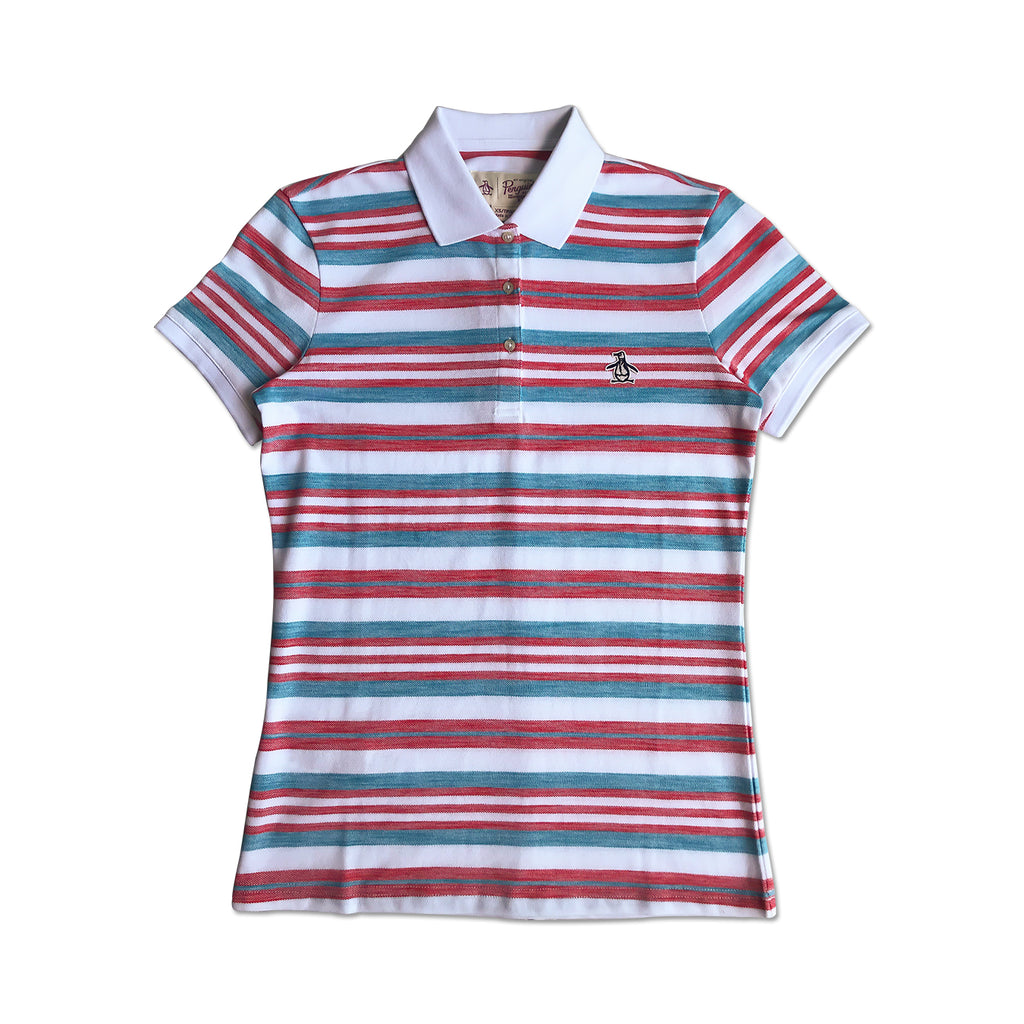 Original Penguin Womens Engineered Birdseye Polo Shirt - ANTHEM