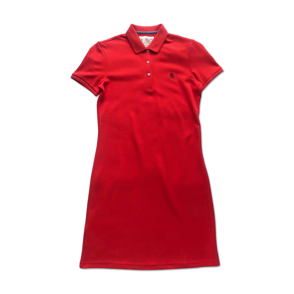 Original Penguin Womens Daddy-O Dress High Risk Red - ANTHEM