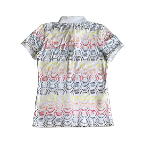 Original Penguin Womens Tiedye Stripe Polo Shirt - ANTHEM