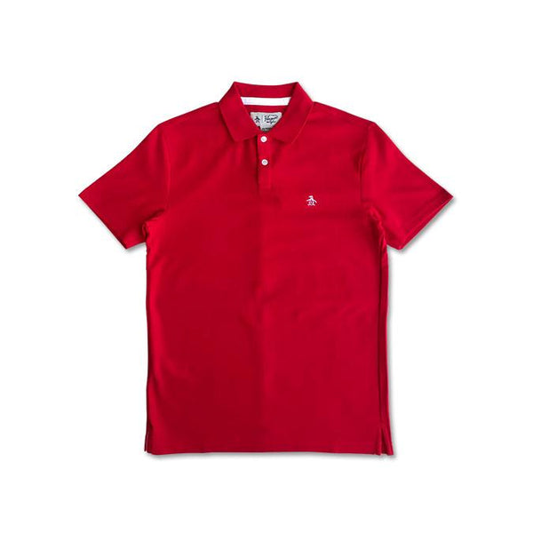 Original Penguin Pop Polo Shirt Flame Scarlet - ANTHEM