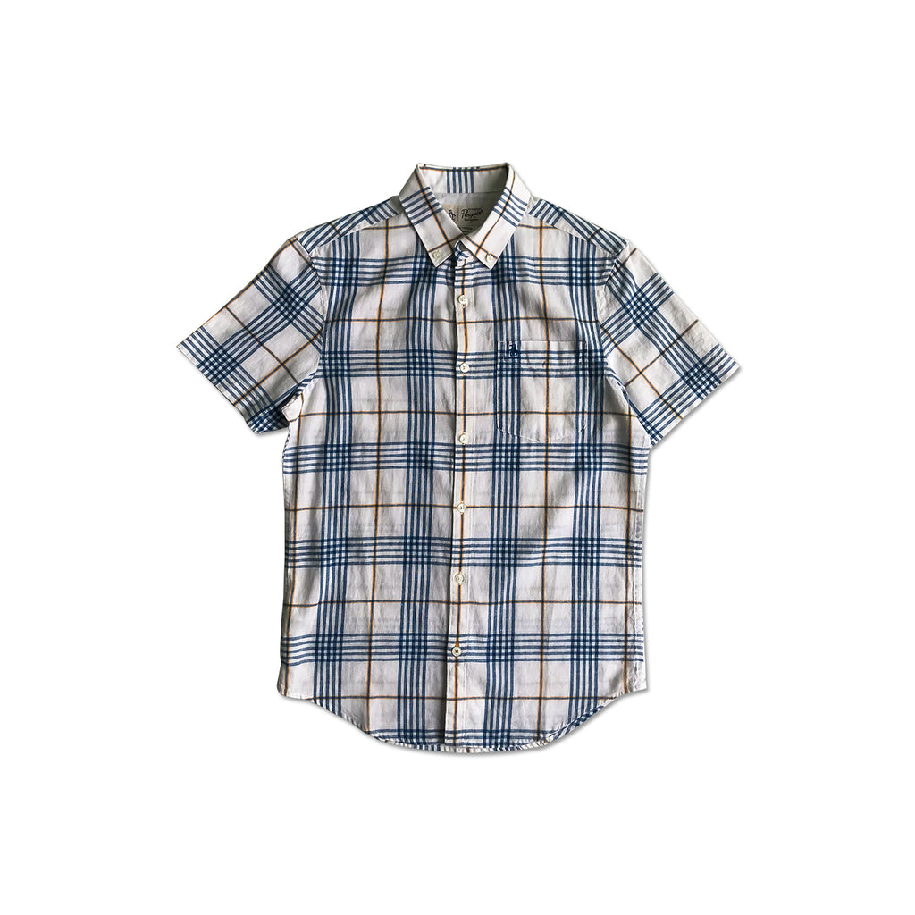 Original Penguin Linen/Cotton Plaid Short Sleeve Woven Shirt - ANTHEM