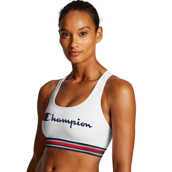 Champion USA Womens The Absolute Workout Sports Bra - Script Logo