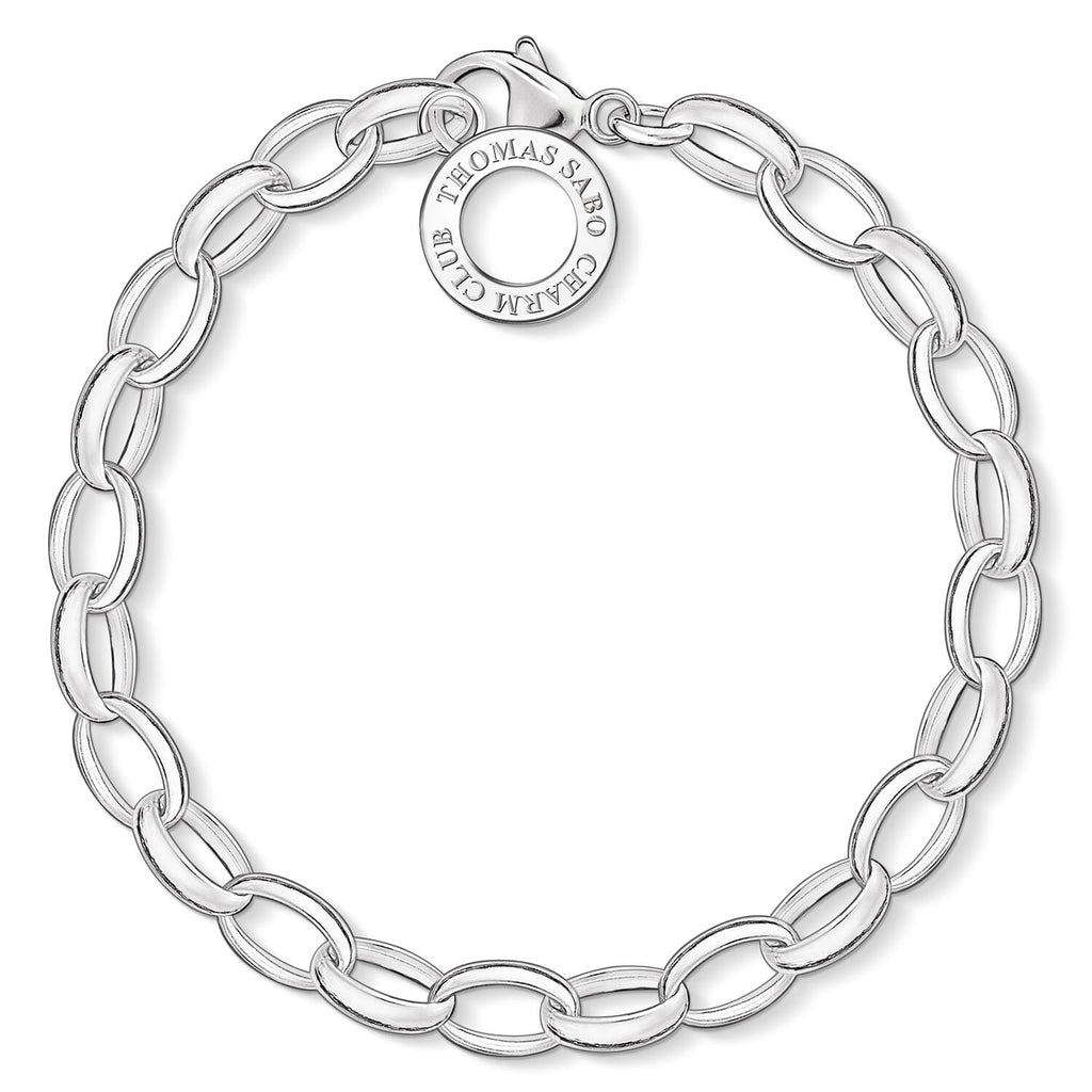 Thomas Sabo Charm Club Sterling Silver Bracelet Polished B - ANTHEM