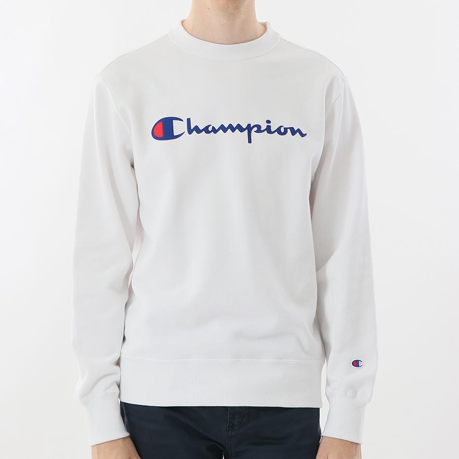 Champion Japan Mens Crew Neck Sweatshirt White - ANTHEM