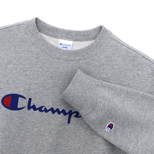 Champion Japan Mens Crew Neck Sweatshirt Oxford Grey - ANTHEM