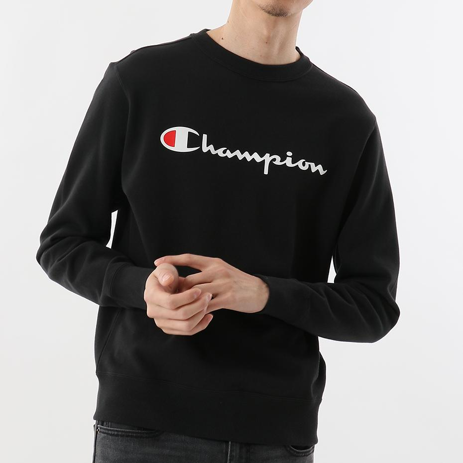 Champion Japan Mens Crew Neck Sweatshirt Black - ANTHEM