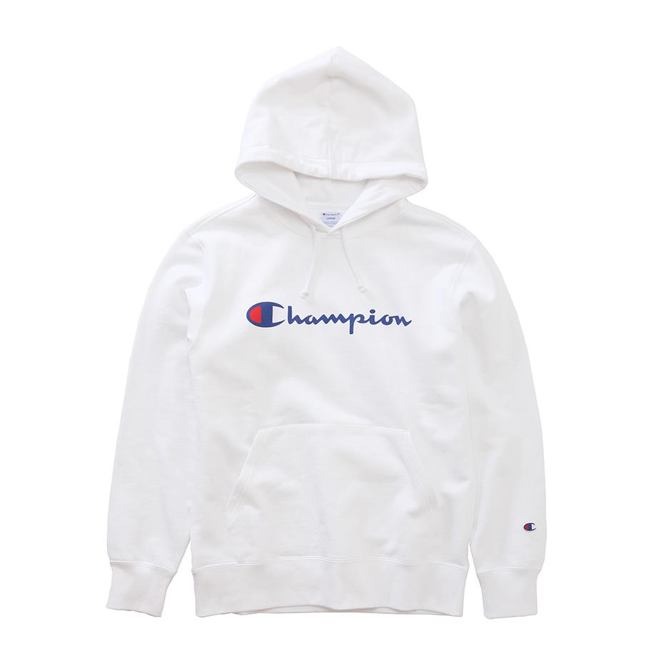 Champion Japan Mens Pullover Hooded Sweatshirt White - ANTHEM