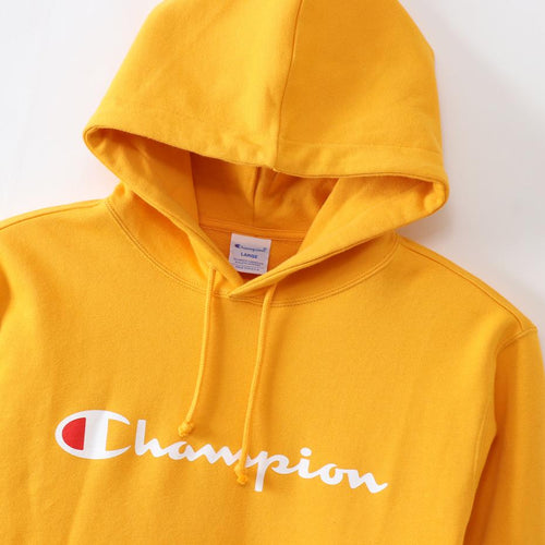 Champion Japan Mens Pullover Hooded Sweatshirt Yellow - ANTHEM