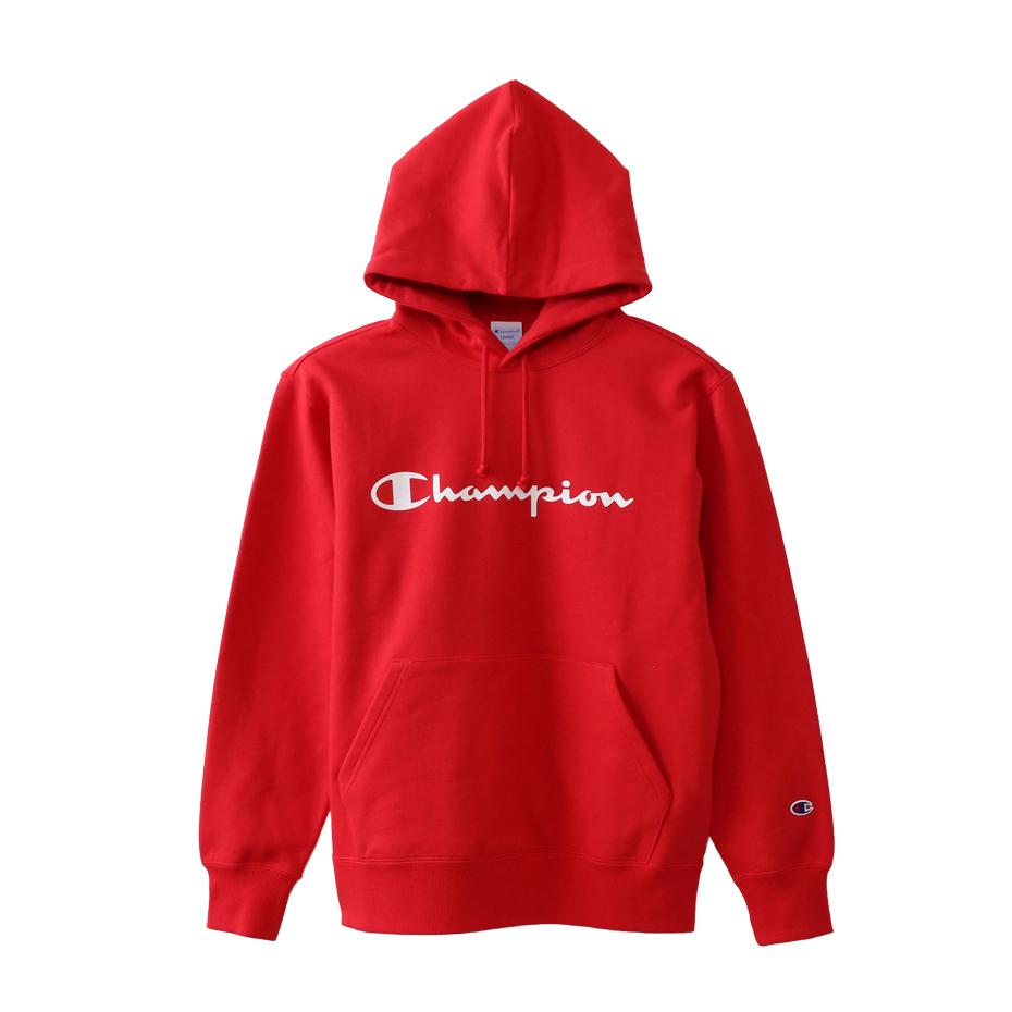 Champion Japan Mens Pullover Hooded Sweatshirt Red - ANTHEM