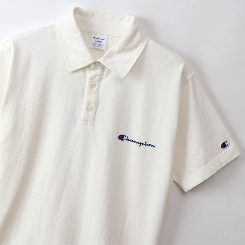 Champion Japan Mens Polo Shirt White - ANTHEM