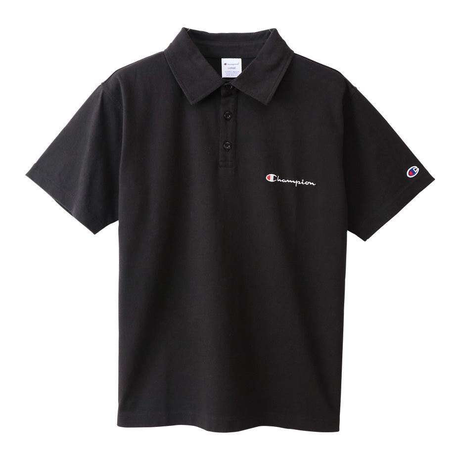 Champion Japan Mens Polo Shirt Black - ANTHEM