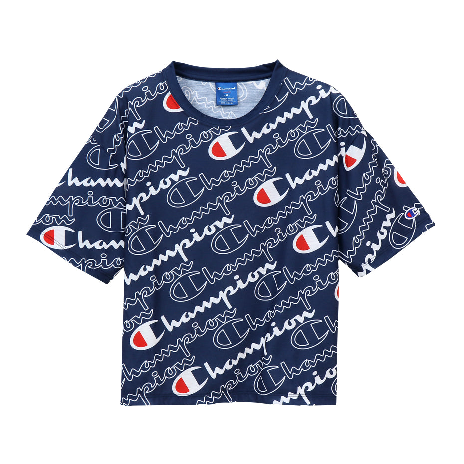 Champion Japan Womens All Over Print T-Shirt - ANTHEM
