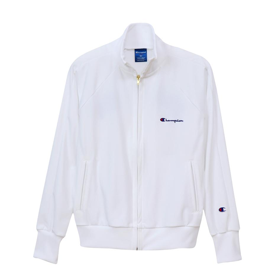 Champion Womens Full Zip Jacket White - ANTHEM