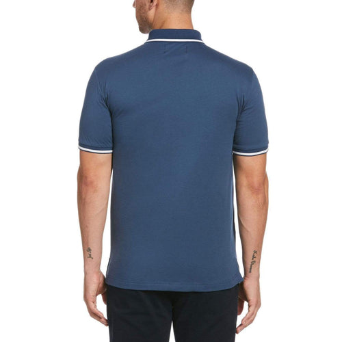 Original Penguin Jersey Tipped Polo Shirt Dark Denim - ANTHEM