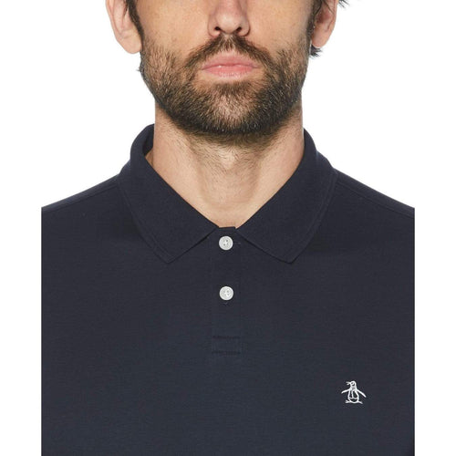 Original Penguin Daddy-O Interlock Polo Shirt Dark Sapphire - ANTHEM