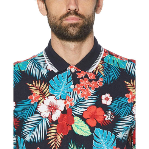 Original Penguin Mens Floral Pique Polo Shirt - ANTHEM
