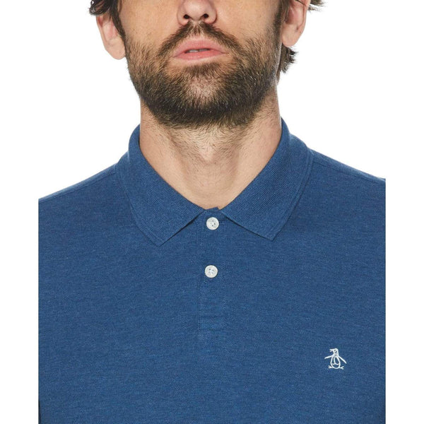 Original Penguin Daddy-O 2.0 Polo Shirt Dark Denim - ANTHEM