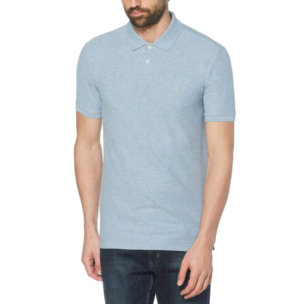 Original Penguin Daddy-O 2.0 Polo Shirt Faded Denim - ANTHEM