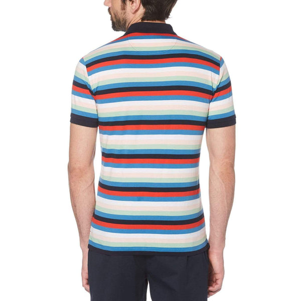 Original Penguin Jersey Horizontal Stripe Polo Shirt - ANTHEM