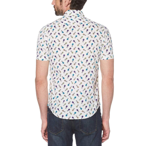 Original Penguin Pineapple Print Short Sleeve Woven Shirt - ANTHEM