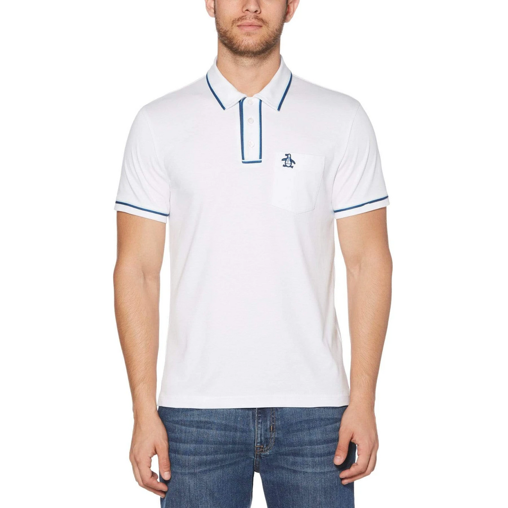 Original Penguin The Earl 3D Polo Shirt - Bright White
