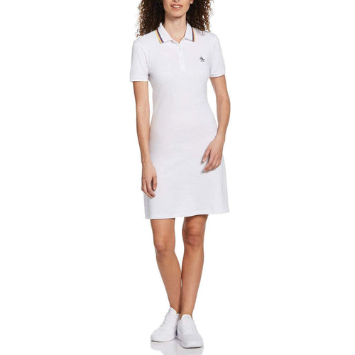 Original Penguin Womens Sticker Pete Dress Bright White - ANTHEM