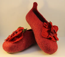 Load image into Gallery viewer, Handfelted Wool Slippers, UK Size 4