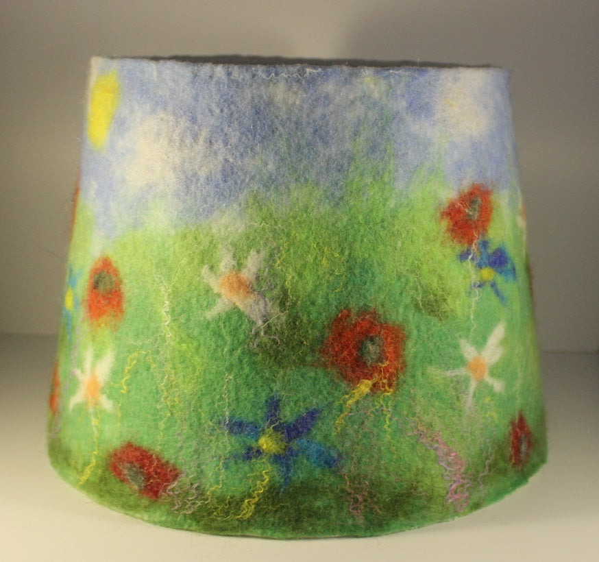 Felted Wool lampshade
