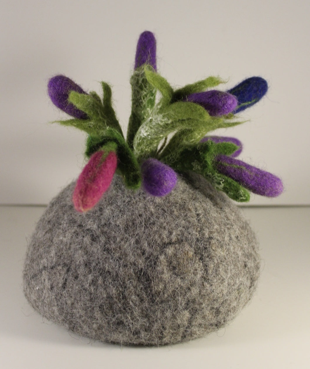 Felted Vase with flowers