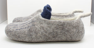 Handfelted Wool Slippers, Size: UK 7.5