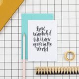 How Wonderful Life is New Baby Greetings Card - Nurture and Cheer