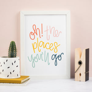 Oh! The Places You'll Go Print (Muted Pastels) - Nurture and Cheer