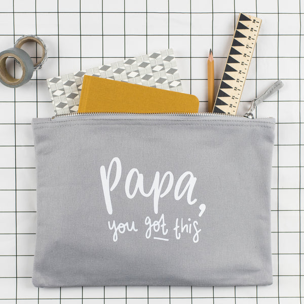Papa, You Got This! Nappy Bag / Fabric Pouch - Nurture and Cheer
