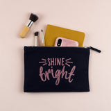 Shine Bright Glitter Pencil Case / Make Up Bag, - Nurture and Cheer