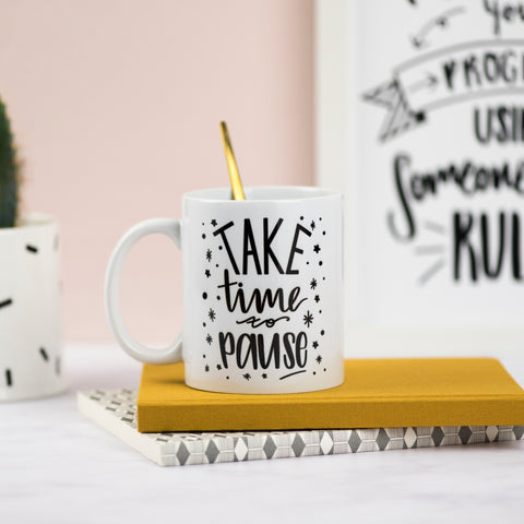 Take Time to Pause Ceramic Mug - Nurture and Cheer