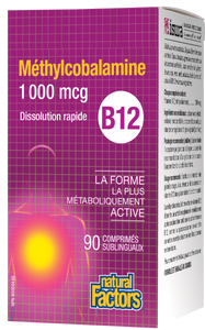 Natural Factors B12 Methylcobalamin is the biologically active form of vitamin B12, the form most readily absorbed into the body. It is a water-soluble vitamin that is necessary for various bodily processes, including energy production, nervous system function, and production of genetic materials DNA and RNA.