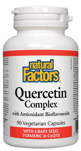 Quercetin Complex is an exceptional antioxidant formula specially developed to maintain optimal health, combat disease, and prevent accelerated aging. Quercetin Complex is considered safe and suitable for long-term use by adults.