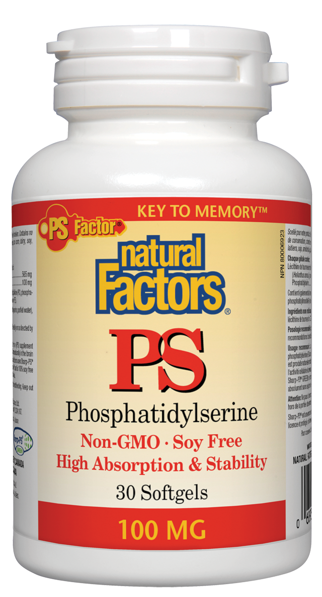 Natural Factors PS Phosphatidylserine boosts the efficiency of cell membranes, especially in the nerve cells of the brain, leading to improved concentration, learning, vocabulary, and memory. As we get older, our natural production of PS decreases, making supplementation the ideal means for preventing age-related cognitive decline.
