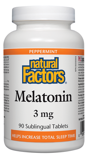 "Melatonin works with the body's natural cycles to safely and effectively reset your ""biological clock"", helping you fall asleep faster, increasing the quality and duration of sleep, supporting REM sleep, and reducing daytime fatigue. Natural Factors Melatonin, from non-animal sources, comes in a sublingual tablet to ensure fast, consistent absorption."